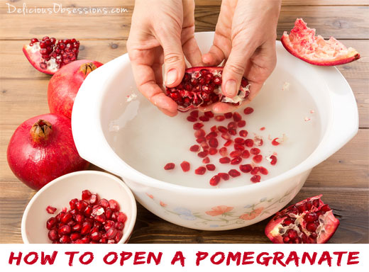 Persnickety Pomegranates: How to Open a Pomegranate // deliciousobsessions.com