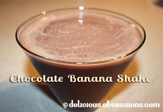 Chocolate Banana Shake with Coconut Oil