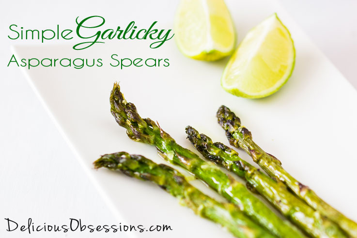 Simple Garlicky Asparagus Spears