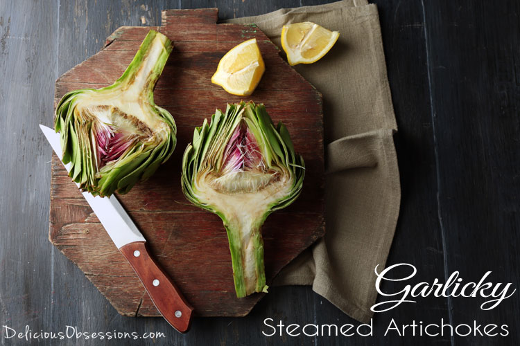 Garlicky Steamed Artichokes