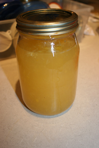 Coconut Water Kefir With Fresh Orange Juice