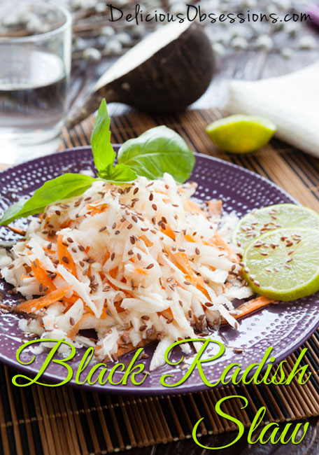 Black Radish Slaw (great for digestion) :: Gluten and Dairy Free, AIP/Autoimmune Option