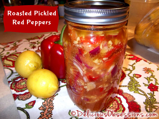 Pickled Roasted Red Pepper Recipe