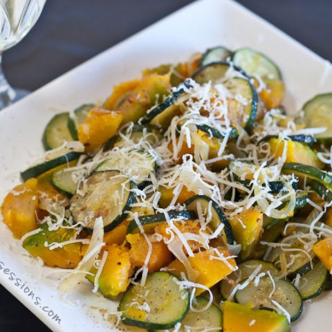 Simple Side Dish: Zucchini, Squash, and Onions // deliciousobsessions.com