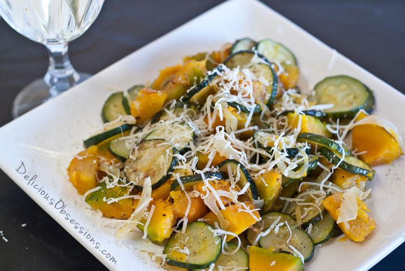 ple Side Dish: Zucchini, Squash, and Onions // deliciousobsessions.com