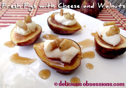 Delicious Obsessions: Fresh figs with cheese, nuts, and maple syrup ...