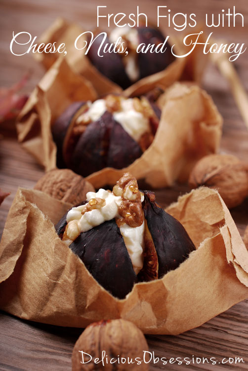 Fresh Figs with Cheese, Nuts, and Honey :: Gluten Free, Grain Free // deliciousobsessions.com