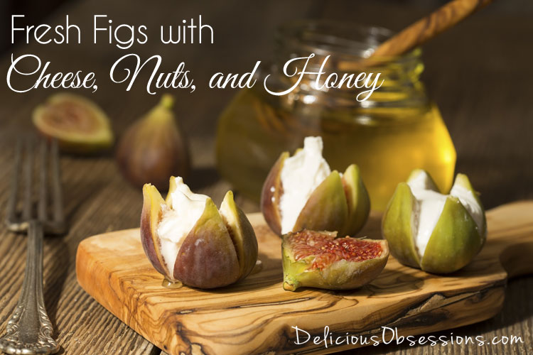Fresh Figs with Cheese, Nuts, and Honey :: Gluten Free, Grain Free