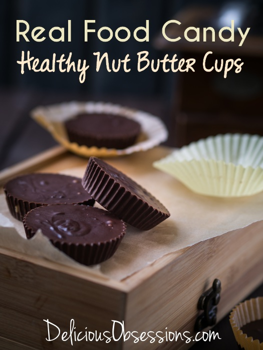 Healthy Homemade Nut Butter Cups With Coconut Oil // deliciousobsessions.com