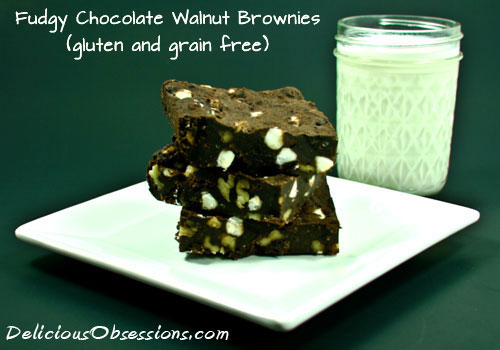 Super Fudgy Chocolate Walnut Brownies - Gluten and Grain Free