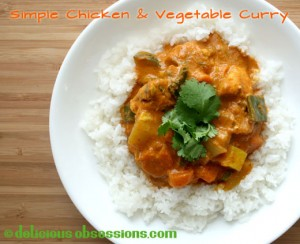Chicken Vegetable Curry recipe with coconut milk and homemade curry powder