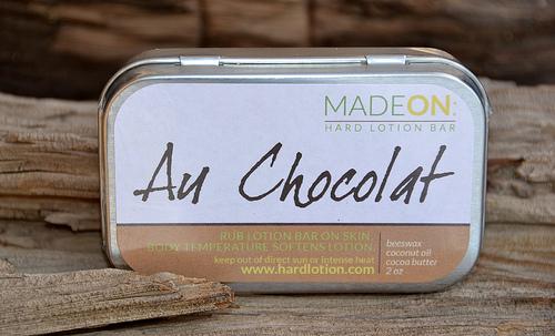 Au Chocolat lotion bar