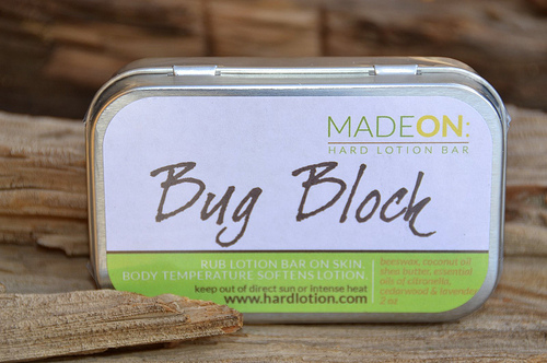 The Bug Block hard lotion bar