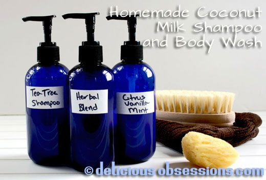Delicious Obsessions: Homemade Coconut Milk Shampoo and Body Wash Featured on CoconutOil.com