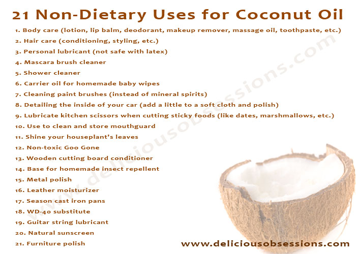 Delicious Obsessions: 21 Non-Dietary Uses for Coconut Oil