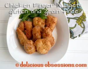 Crispy Coconut Finger Nuggets with Tangy Balsamic Dip (Gluten and Grain Free)