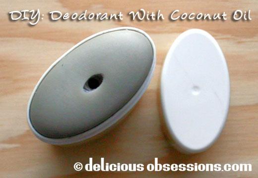 DIY Deodorant with coconut oil, rosemary, and lemongrass