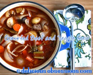 Delicious Obsessions: Hearty Grass-fed Beef and Vegetable Stew Recipe | www.deliciousobsessions.com