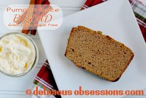 Pumpkin Spice Bread Recipe (gluten, grain, dairy, sugar free)