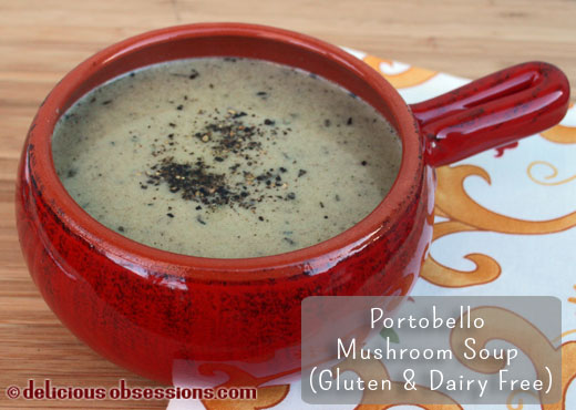Cream of Portobello Mushroom Soup Recipe (Gluten, Grain, and Dairy Free, Autoimmune Friendly, Vegetarian/vegan option)