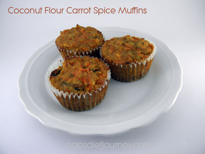 Carrot Spice Muffins - Baking with Coconut Flour