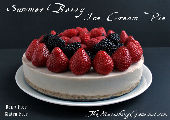 Summer Berry Ice Cream Pie (Dairy, Gluten, and Grain Free)