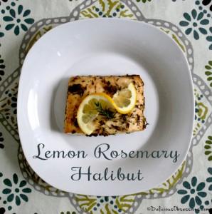 Lemon Rosemary Alaskan Halibut Recipe   deliciousobsessions.com