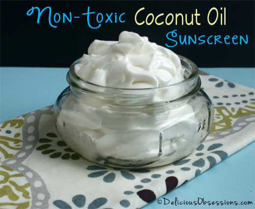 Homemade Non-Toxic Coconut Oil Sunscreen Recipe