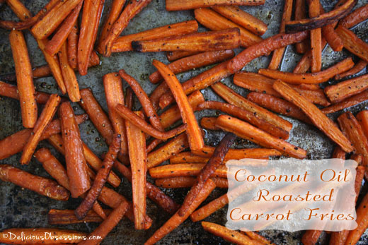 Coconut Oil Roasted Carrot Fries (Gluten and Dairy Free, Autoimmune Friendly)