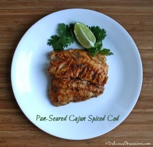 Pan-Seared Cajun Spice Cod   deliciousobsessions.com