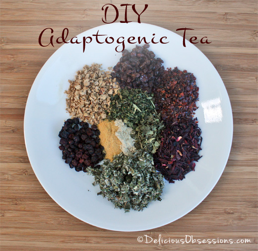 DIY Adaptogenic Herbal Tea Blends | deliciousobsessions.com