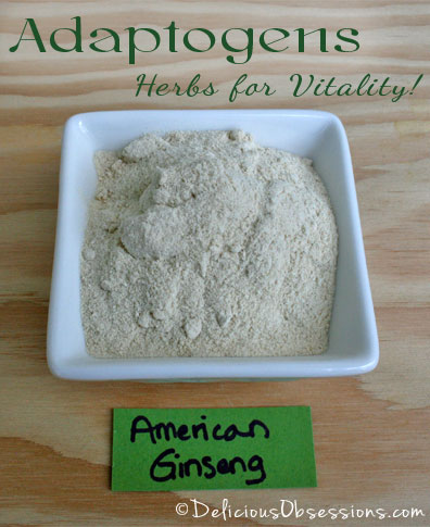 Adaptogens: Herbs for Vitality - American Ginseng   deliciousobsessions.com