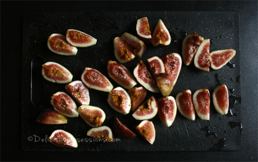 Orange Honey Balsamic Glazed Figs with Ricotta | deliciousobsessions.com