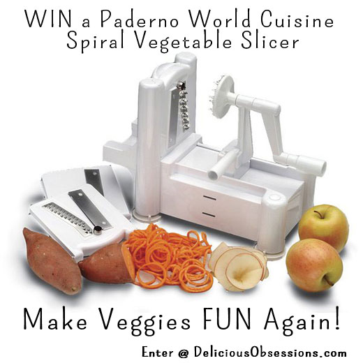 Spiralizer Review and Giveaway from DeliciousObsessions.com