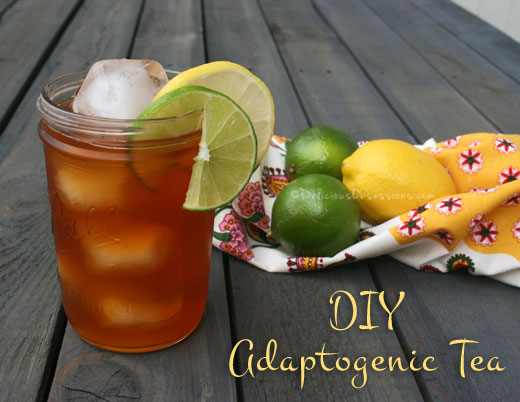 4 DIY Adaptogenic Herbal Tea Blends | deliciousobsessions.com