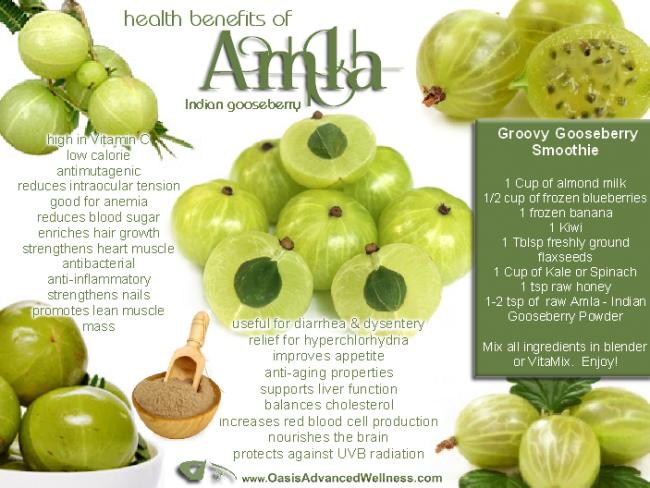 Adaptogens: Herbs for Vitality - Amla Fruit | deliciousobsessions.com