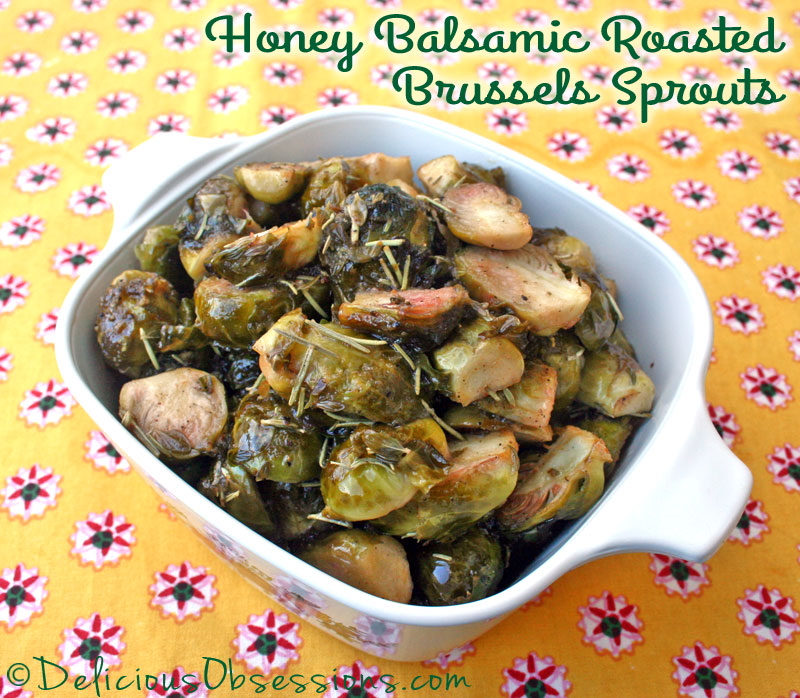 Honey Balsamic Roasted Brussels Sprouts (Gluten and Dairy Free, Autoimmune Friendly)
