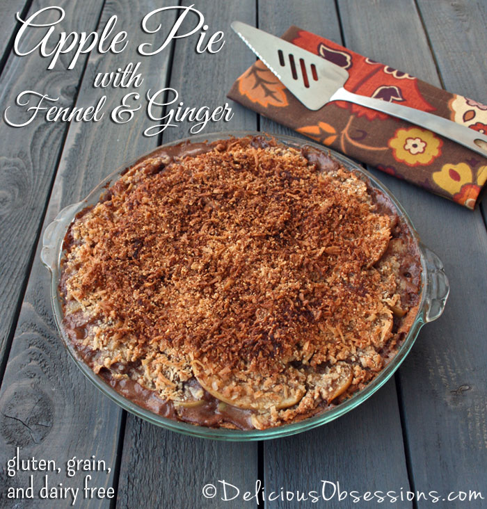 Deep Dish Apple Pie with Fennel and Ginger :: gluten, grain, and dairy free