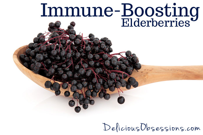 Immune-Boosting Elderberry and Rose Hips Tonic // deliciousobsessions.com