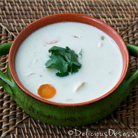 Coconut Green Chili Chicken Soup :: Dairy-Free, Gluten-Free, Grain-Free, Low-Carb