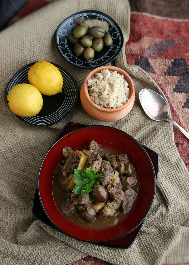 Slow Cooker Mutton Tagine with Lemon And Olives // deliciousobsessions.com #paleo #realfood #slowcooker