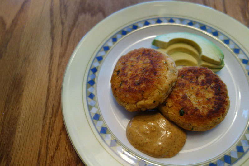 Cumin Spiced Salmon Patties with Chipotle Aioli (gluten, grain, dairy free)