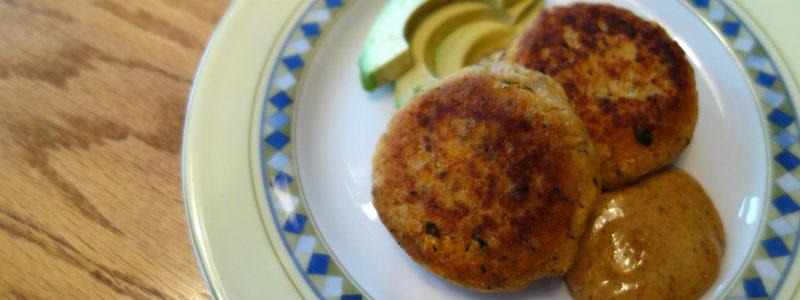 Cumin Spiced Salmon Patties with Chipotle Aioli (gluten, grain, dairy free)