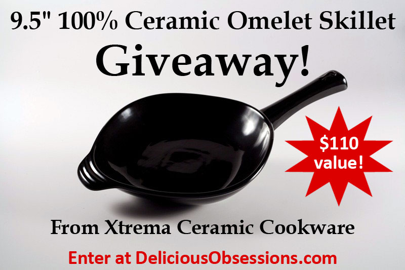 Xtrema Ceramic Cookware Giveaway // deliciousobsessions.com