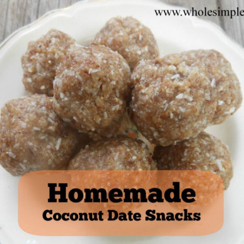 Homemade Coconut Date Snacks (grain, gluten, dairy free) // deliciousobsessions.com