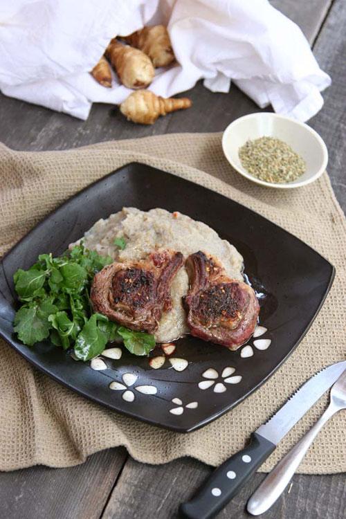 Lamb Chops With Sunchoke Puree (Gluten and Dairy-Free, Autoimmune Option)