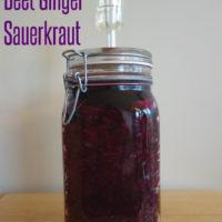 Lactofermented Beet Ginger Sauerkraut :: Gluten-Free, Grain-Free, Dairy-Free