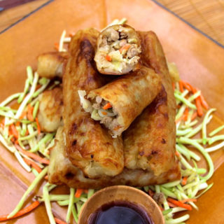 Paleo Egg Rolls (Gluten, Grain, Dairy, and Nut Free, #Autoimmune #Paleo Option) // deliciousobsessions.com