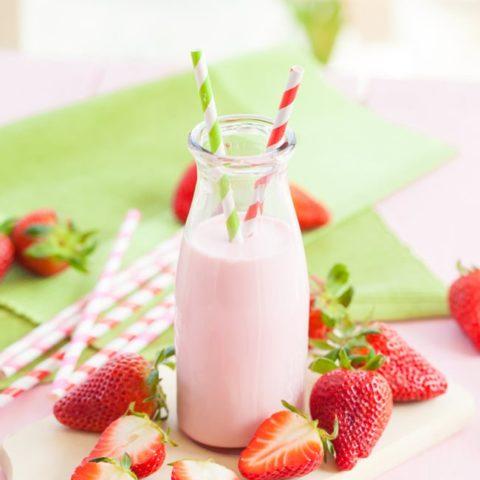 Homemade Strawberry Milk :: Gluten-Free, Grain-Free, Dairy-Free, Refined Sugar-Free