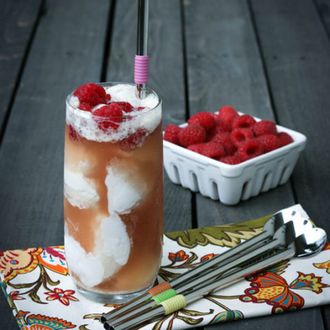 Refreshing Water Kefir (or Kombucha) Ice Cream Float // deliciousobsessions.com